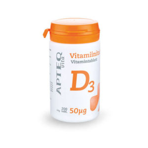 APTEQ D-vitamiin 200 tk